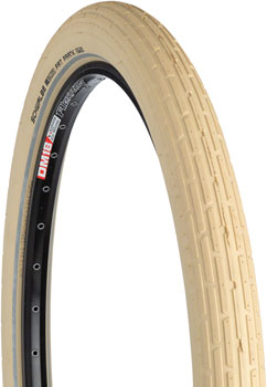 Schwalbe Fat Frank Tire 26 x 2.35, Wire Bead, Active Line, Basic Compound, K-Guard, Creme/Reflect