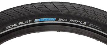 Schwalbe Big Apple Tire 26 x 2.35, Wire Bead, Performance Line, Endurance  Compound, RaceGuard, Black/Reflect