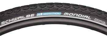 Schwalbe Marathon Mondial Tire 700 x 40, Wire Bead, Performance Line, Endurance  Compound, RaceGuard, Black/Reflect