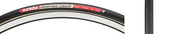 Kenda Domestique Tire - 700 x 22, Tubular, Folding, Black, 220tpi