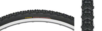 Kenda Kross Supreme Tire - 700 x 35, Clincher, Folding, Black, 60tpi
