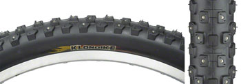 Kenda Klondike K1013 Tire - 26 x 2.1, Clincher, Steel, Black, 30tpi, Studded