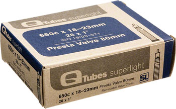 Q-Tubes Superlight 650c x 18-23mm 80mm Presta Valve Tube