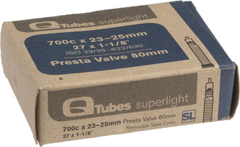Q-Tubes Superlight 700c x 23-25mm 80mm Presta Valve Tube