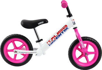 KaZAM USA BMX Balance Bike: White/Pink