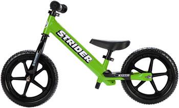 Strider 12 Sport Kids Balance Bike: Green