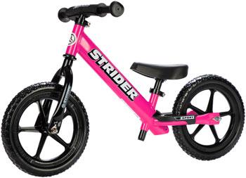 Strider 12 Sport Kids Balance Bike: Pink