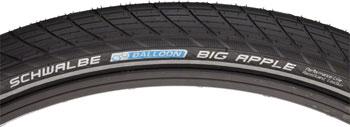 Schwalbe Big Apple Tire 26 x 2.00, Wire Bead, Performance Line, Endurance  Compound, RaceGuard, Black/Reflect