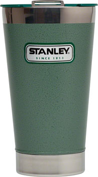 Stanley Classic Vacuum Pint Glass: Hammertone Green, 16oz