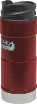 Stanley Classic One-Hand Vacuum Insulation Mug: Hammertone Crimson, 12oz