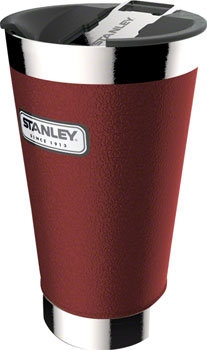 Stanley Classic Vacuum Pint Glass: Hammertone Crimson, 16oz