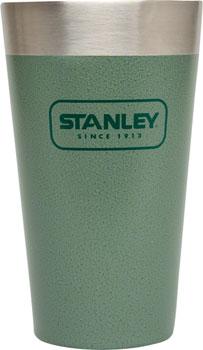 Stanley Adventure Stacking Vacuum Pint Glass: Hammertone Green, 16oz