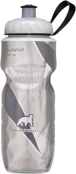 Polar Insulated Pattern Water Bottle: 20oz, White