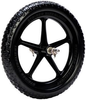 Strider Replacement Wheel: Ultralight, 12, Black, Sold as Eachë_