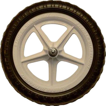 Strider Replacement Wheel: Ultralight, 12, White, Sold as Eachë_