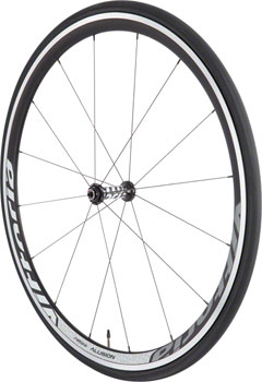 Vittoria Alusion Wheelset: 700c Clincher, QRx100mm Front / QRx130mm Rear, Shimano Freehub, Black
