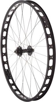 Surly Rabbit Hole Front Wheel: 29+ QR x 135mm 0mm Offset, Black