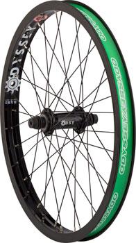 Odyssey Q1 Front Wheel Black Hazard Lite Rim Quartet Front Hub 3/8