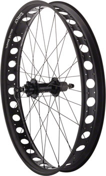 Quality Wheels Fat Bike Rear Wheel 26 32h Surly Rolling Darryl Salsa 170 DT Competition All Black