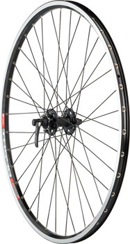Quality Wheels Pavement Front Wheel 700c 36h XT M756 / DT Swiss TK540 / DT Competition All Black
