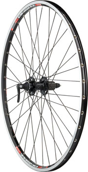 Quality Wheels Pavement Rim Brake Rear Wheel 700c 36h XT M756 / DT TK540 / DT Competition All Black
