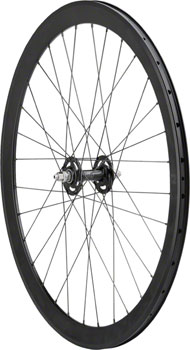 Quality Wheels Track Blackout Front Wheel 700c 32h All-City Track / H+Son SL42 / DT Competition All Black