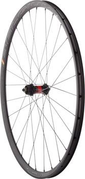 Quality Wheels Road Disc Front Wheel 700c 28h HED Belgium Plus 25 / DT 240 Centerlock / DT AeroLite All Black