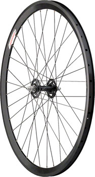 Quality Wheels Track Front Wheel 700c 36h All-City Track / Velocity Chukker / DT Champion All Black