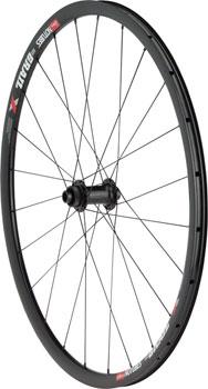 Quality Wheels Front Wheel Road Disc 700c 24h 100mm QR and 15mm Formula Convertible Blk / NoTubes Grail Blk / DT Comp
