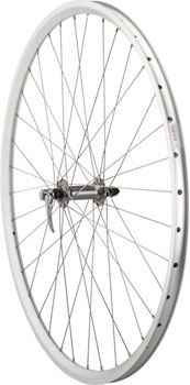 Quality Wheels Pavement  Front Wheel 700c 36h Shimano LX / Velocity Dyad / DT Champion All Silver