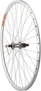 Quality Wheels Pavement Rim Brake Rear Wheel 700c 36h Deore LX T670 / Velocity / DYAD Silver