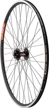 Quality Wheels Pavement Disc and Rim Brake Tandem Front Wheel 700c 40h DT 540  Black/ Velocity Dyad Black/ Competition
