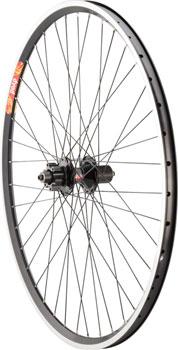 Quality Wheels Pavement Disc and Rim Brake Tandem Rear Wheel 700c 40h 145mm DT540 Black/ Velocity Dyad Black Competition