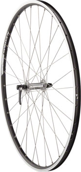 Quality Wheels Road Rim Brake Front Wheel 100mm 700c QR Deore M610 Silver / Alex ACE19 Black / DT Factory Sil