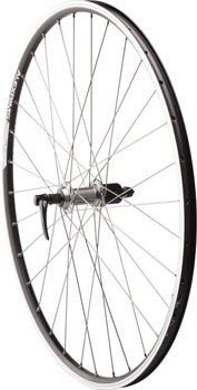 Quality Wheels Road Rim Brake Rear Wheel 135mm 700c Shimano Deore M610 Silver / Alex ACE19 Black / DT Factory Silver