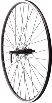 Quality Wheels Road Rim Brake Rear Wheel 135mm 700c Shimano Deore M610 Black / Alex ACE19 Black / DT Factory Black
