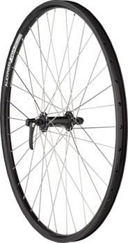 Quality Wheels Front Wheel Mountain Rim Alex 26 100mm 36h DH19 Black / Shimano Deore Black / DT Factory Silver