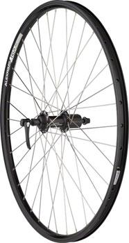 Quality Wheels Rear Wheel Mountain Rim 26 135mm 36h Alex DH19 Black / Shimano Deore Black / DT Factory Silver