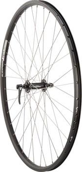 Quality Wheels Front Wheel Mountain Rim Alex 700c 100mm 36h DH19 Black / Shimano Deore Black / DT Factory Silver