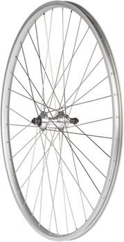 Quality Wheels Value Series Silver Road  Rear Wheel 27 Formula 130mm Freewheel / Alex AP18 Silver