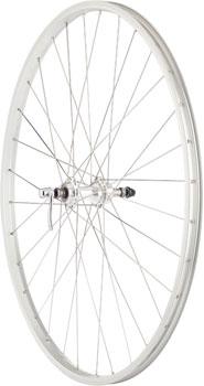 Quality Wheels Value Series Silver Rear Wheel Rim Brake 700c 130mm Freewheel Silver