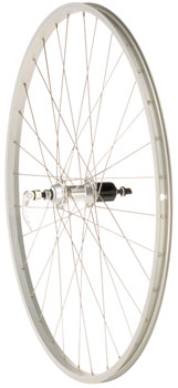 Quality Wheels Value Series Silver Pavement Rear Wheel 700c Formula 130mm Freehub / Alex Y2000 Silver