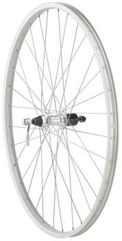 Quality Wheels Value Series Silver Mountain Rear Wheel 700c Formula 135mm Freehub / Alex Y2000 Silver