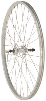 Quality Wheels Value Series Silver Pavement Rear Wheel 26 Formula 135mm Freewheel / Alex Y2000 Silver