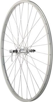 Quality Wheels Value Series Silver Rear Wheel Rim Brake 700c 135mm Freewheel Silver