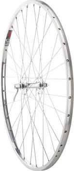 Quality Wheels Road Front Wheel Nice 27 Velo Orange Grand Cru High Flange / Sun CR18 QR Polished silver