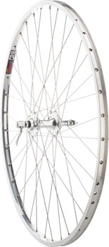 Quality Wheels Road Rear Wheel Nice 27 Velo Orange Grand Cru High Flange / Sun CR18 126mm QR Polished Silver