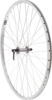 Quality Wheels Value XL Front Wheel 700c Shimano Hub / Velocity NoBS Rim, Raw, 36h