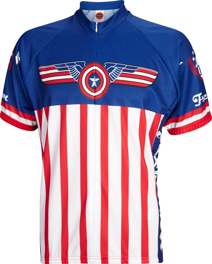 World Jerseys USA Freedom Men s Cycling Jersey  White Blue Red 56335b249